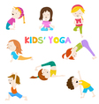 Kids Yoga vector image vector image