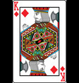 king of diamonds vector image vector image