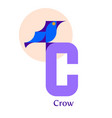 letter c - crow vector image vector image