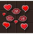 love lips heart sticker vector image vector image