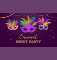 mardi gras - fat tuesday carnival celebration vector image vector image