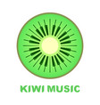 music logo piano as kiwi fruit icon colorful vector image vector image