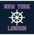 new york london typography t-shirt graphics vector image vector image