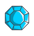 octagonal diamond in a flat style vector image vector image