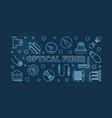 optical fiber concept blue linear vector image vector image