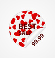 Paper stickers with hearts Design elements vector image vector image