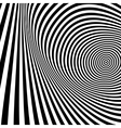Pattern with optical Black and white vector image vector image