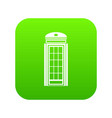 phone booth icon digital green vector image vector image