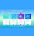 pricing table ui design vector image