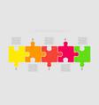 puzzle five pieces part for business presentation vector image
