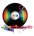 rainbow vinyl record vector image