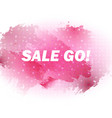 sale-go-pink vector image