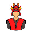 samurai icon cartoon vector image vector image