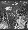 seamless pattern with nautical sea treasure marine vector image vector image