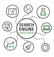 Search engine optimisation vector image vector image