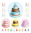 Set cakes for Anniversary vector image vector image