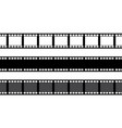 set film strip isolated on white background vector image