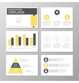 Set of gray and orange template for multipurpose vector image