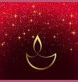 shiny diwali design with sparkles vector image vector image
