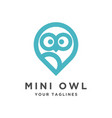 simple modern owl logo vector image vector image