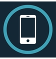 Smartphone flat blue and white colors rounded vector image vector image