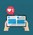 social network media flat design vector image