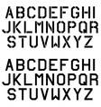 stencil angular font alphabet letters vector image vector image