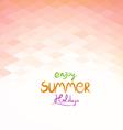Summer background modern design vector image vector image