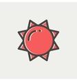 Sun thin line icon vector image vector image