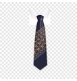 trend tie icon realistic style vector image