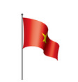 vietnam flag on a white vector image