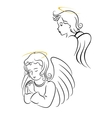 Winged angels vector image