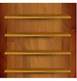 wooden empty realistic bookcase vector image