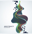 abstract background with a dynamic waves lines vector image vector image