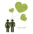 abstract green natural texture couple in vector image vector image