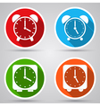 Alarm clocks collection vector image vector image