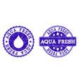 aqua fresh grunge stamp seals vector image vector image