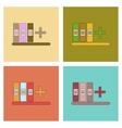 assembly flat icons shelf folder vector image vector image