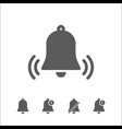 bells icons set vector image