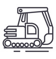big excavator line icon sign vector image