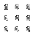 black document icon set vector image vector image