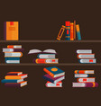 bookshelf reading books for vector image