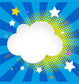 border template with clouds and stars vector image vector image