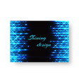 celebratory banner with neon light vector image vector image