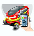 Charging electric car phone control