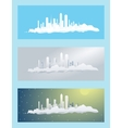 cloud city vector image vector image