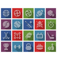 collection square dotted icons sport vector image vector image