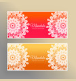 colorful mandala banners decoration background vector image
