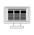 computer screen website in black and white vector image vector image