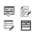contact us flat glyph icons vector image